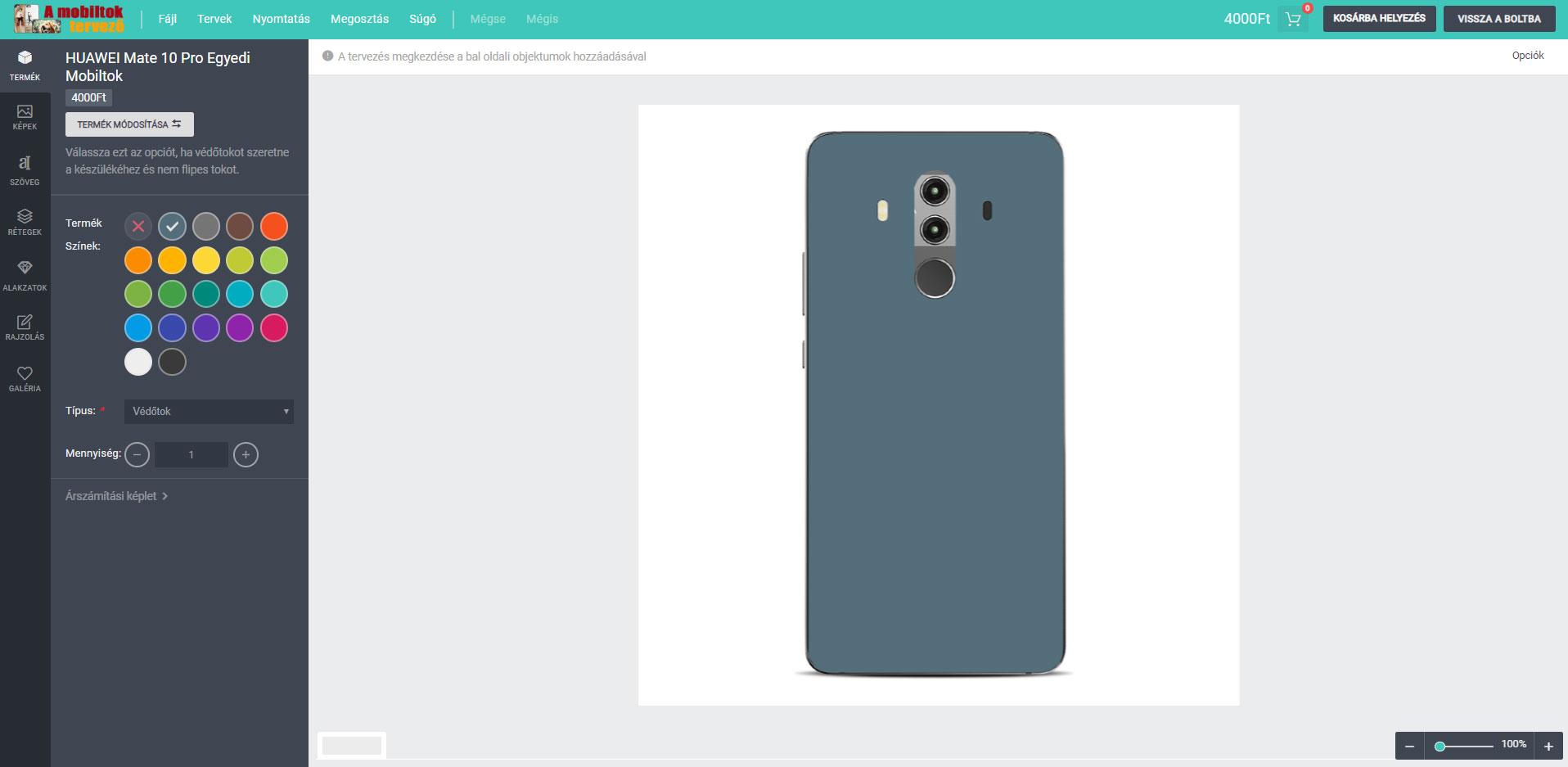 Huawei Mate 10 Pro egyedi mobiltok tervező